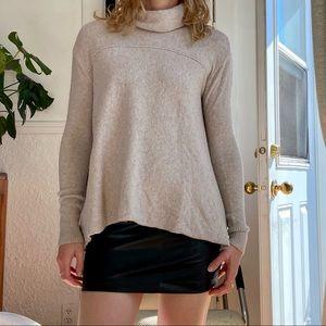Free People wool blend loose turtleneck sweater